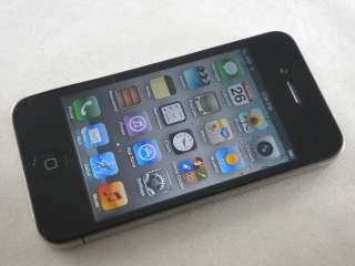 APPLE IPHONE 4 16GB BLACK CELL PHONE AT&T GSM WIFI GPS CAMERA TOUCH