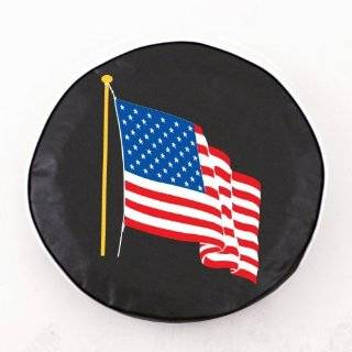 31 American Flag Spare Tire Cover   Molded Plastic Face
