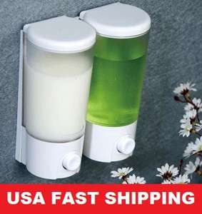 Double Shower Soap Lotion Shampoo Dispenser With Wall suction NEW