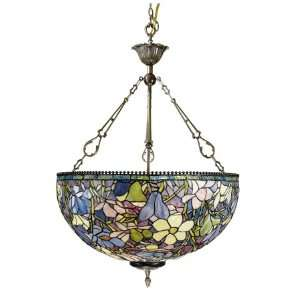 Dale Tiffany Floral 3 Light Ceiling Pendant 1051 3LTH