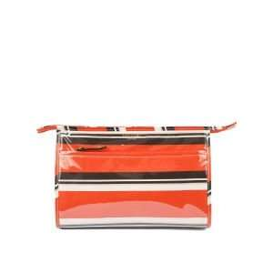 Kate Spade Large Heddy Cosmetic Case Beauty Stripe Make up Bag