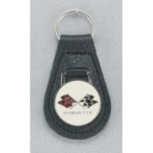 C3 Corvette Black Leather Key Fob (73 82) Automotive