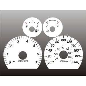 2005 Ford Taurus Sable METRIC KPH KMH White Face Gauges Automotive