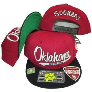 Oklahoma Sooners Tail Script Red/Black Two Tone Plastic