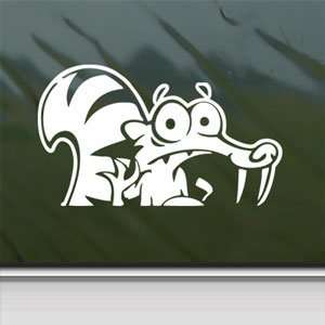 Squirrel ICE AGE White Sticker Car Vinyl Window Laptop