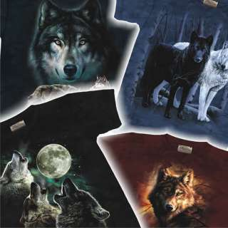 WOLF T Shirt Adult wolves wolfe pack howling nwt M/L/XL