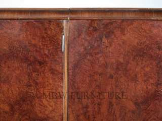 Burl Walnut Art Deco 3 Door 5Ft Armoire Wardrobe Closet c1930's p23