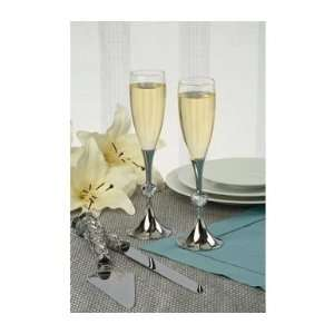 Wedding Toasting Flutes   Heart Shaped Crystal Health