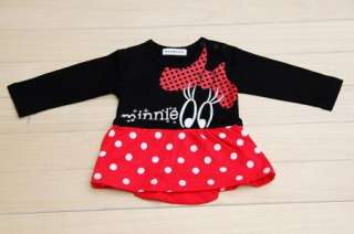 Disney Mickey Minnie Baby Cotton jumpsuit dress clothes Size0 2Y Free