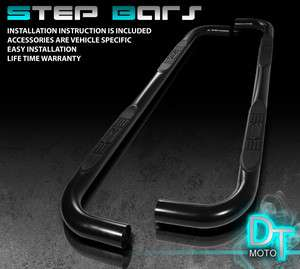 04 08 FORD F150 SUPER CAB BLACK 3 SIDE STEP NERF BAR RUNNING BOARD w