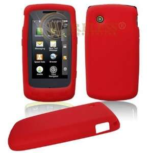 Red Soft Silicone Gel Skin Cover Case for LG Bliss UX700 [Beyond