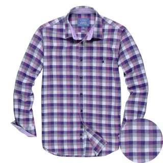 Mens Casual Shirts Mens Checkboard Long Sleeve Flannel Shirt Checks 5