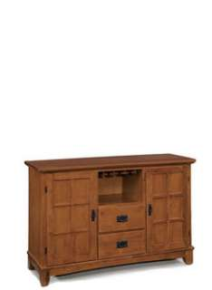 Home Styles Arts & Crafts Cottage Oak Dining Buffet & Hutch