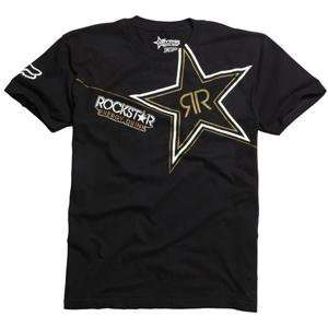 Fox Racing Rockstar Golden T Shirt   Large/Black