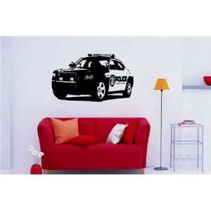Mural Vinyl Sticker Car Dodge Charger Police S 601