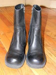 HARLEY DAVIDSON WOMENS BLACK LEATHER BOOTS SHOES 8