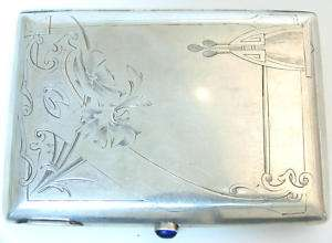 ANTIQUE IMPERIAL RUSSIAN SILVER 84 CIGARETTE CASE MARK