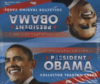 President Barack Obama Collector Trading Cards Hobby Box (2009 Topps