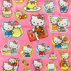 cute Hello Kitty glitter sticker sweets Japan Toys
