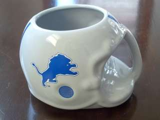 Vintage 1986 Detroit Lions NFL Collectable Ceramic Helmet Coffee Mug
