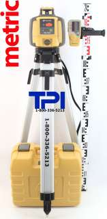 TOPCON RL H4C SELF LEVELING ROTARY SLOPE LASER LEVEL + TRIPOD & METRIC