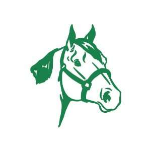 Quarter Horse medium 7 Tall GREEN vinyl window decal