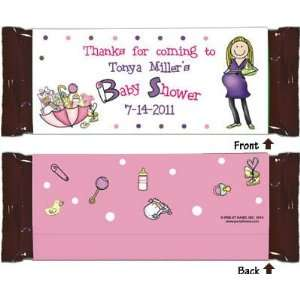 Pen At Hand Stick Figure Candy Wrappers   (Baby Shower