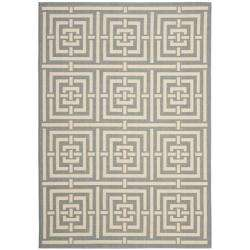 Poolside Grey/ Cream Indoor Outdoor Rug (27 x 5)