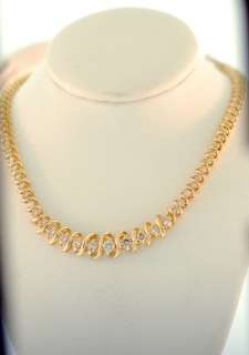 Ladies Yellow Gold Diamond Tennis Necklance 3.00CT