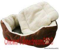 Indoor Dog Puppy Cat Pet Soft Fleece Winter Warm Bed House Soft Pad