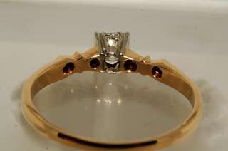 1000 .23CT ANTIQUE ART DECO OLD MINER CUT DIAMOND ENGAGEMENT RING