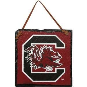 NCAA South Carolina Gamecocks Garnet Square Slate Hanging Sign