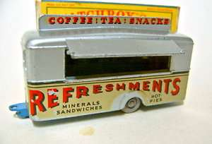 Matchbox RW No.74A Mobile Canteen rare dark blue base