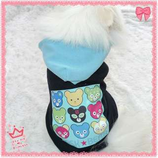 Bears Logo Fleece Dog Clothes Coat pet clothes Dog Hoodie