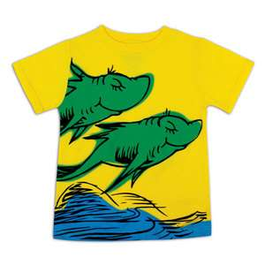 Dr. Seuss One Fish Two Fish Red Fish Blue Fish T Shirt Bumkins 12m 5T