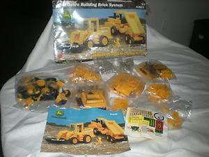 JOHN DEERE TRACTOR ERTL building BRICK SET parts manual WHEEL LOADER