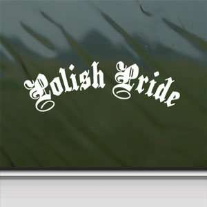 Polish Pride White Sticker Car Laptop Vinyl Window White