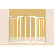 Dreambaby Extra Wide Hallway Auto Close Gate with Extensions   White