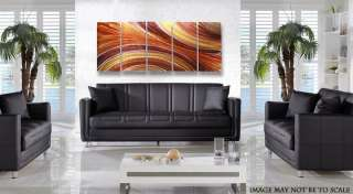 Large Brown Earthtone Modern Metal Abstract Wall Art Painting