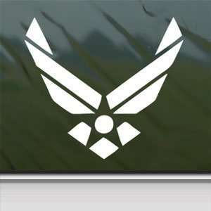 US Air Force Military White Sticker Laptop Vinyl Window