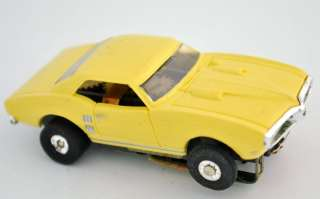 YELLOW FIREBIRD MODEL MOTORING BODY AURORA AFX T JET CHASSIS