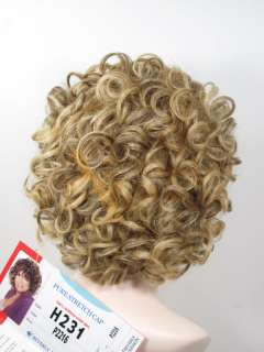 100% Human Hair Pure Stretch Cap Full Wig H231 #P2216