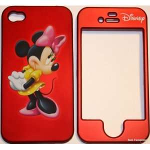 Minnie Mouse (Red) Apple iPhone 4 Faceplate Hard Cell