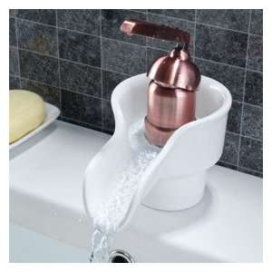 Copper Single Handle Centerset Bathroom Sink Faucet
