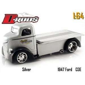 Rods Silver 1947 Ford Coe 164 Scale Die Cast Truck Toys & Games