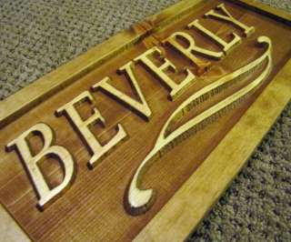 Personalized Horse Pet Name Custom Carved Stall Sign