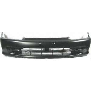 92 95 HONDA CIVIC FRONT BUMPER COVER, Primed, 4 Door Models (1992 92