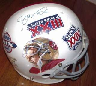Hand Painted Joe Montana Autograph San Francisco 49ers Helmet