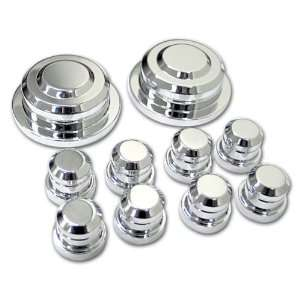 Ford Mustang Chrome Billet 10pc Strut Tower Cap Set MU0031SC, Fits