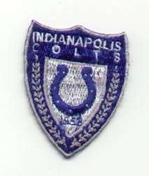 OLD INDIANAPOLIS COLTS SHIELD LOGO PATCH UNUSED Unsold